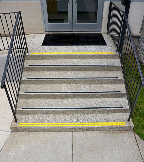 Devon-Prep-Gym-Entrance-Stairs
